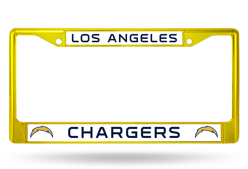 NFL San Diego Chargers Colored Chrome Auto License Plate Frame