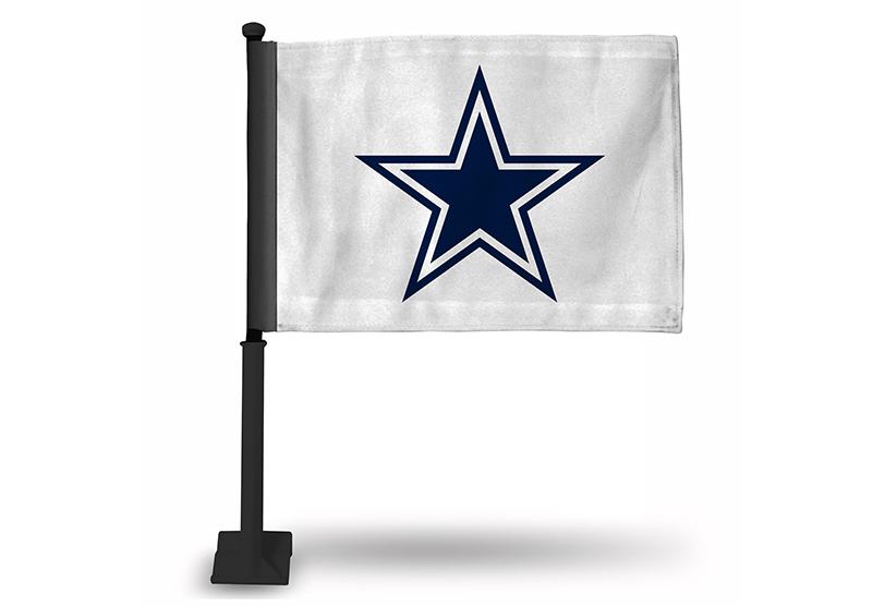 e34cedd4 NFL Dallas Cowboys Car Flag on Black Pole